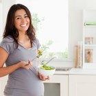Pregnant woman in a garden