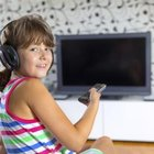 Children watching television
