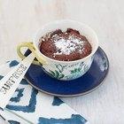 Cómo hacer volcán de chocolate en una taza