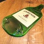 Botellas de vidrio planas hechas en casa