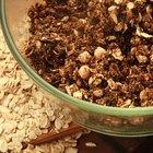Walnut ice cream scoop in porcelain bowl