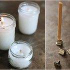Como fazer velas artesanais com pavios de madeira