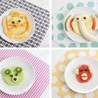 Merienda de frutas con forma de animales