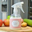 Solución casera para lavar frutas y verduras de manera rápida