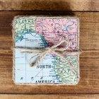 Cómo hacer hermosos posavasos con mapas antiguos