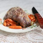 Lamb Shank Cooked in Wine & Herb Sauce