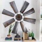 Decora tu pared con este molino de viento vintage hecho en casa