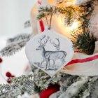 Como aplicar imagens em enfeites de Natal