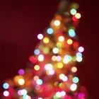 Cómo hacer un adorno con luces navideñas