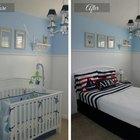 Antes y después: convertir el cuarto de un bebé en la habitación de un niño