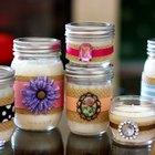 Cómo hacer velas decorativas en frascos de conservas