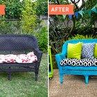 Antes y después: Actualización de un viejo sillón de mimbre