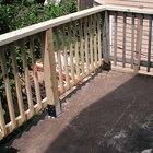 Cómo reemplazar una madera podrida de la barandilla del porche