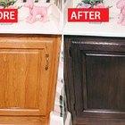 Antes y después: reacabado de un gabinete de color roble miel