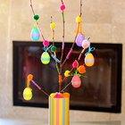 Ideias de decoração de Páscoa: Árvore de ovos