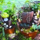 Cómo hacer un jardín de hadas con una maceta rota