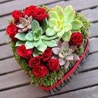 Arranjo floral de Dia dos Namorados