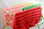 Homemade RV Clothes Drying Rack