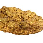 Gold nuggest can be found in glacier streams or even in quartz crystals.