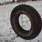 One-rope tire swings are just as fun as fancier ones.