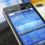 Stocks and bond information on smartphone
