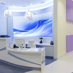 A modern mural on the wall will give your business a sophisticated feel.