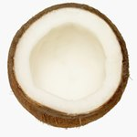 Coconut meat.