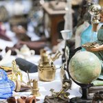 View of items for sale at flea market