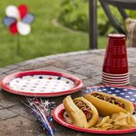 Traditional American Independence Day picnic decorations