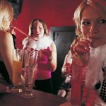 Women at a bar for a bridal shower