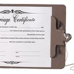 Marriage certificate.