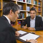 Man with attorney