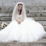 Picking out a wedding dress.