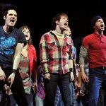 Broadway actors on stage