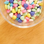 Set up a bowl of small candies.