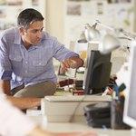 Marketing director at work