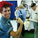 Rosie the Riveter costume.