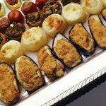 Finger foods are a convenient and appealing choice for buffet appetizers.