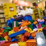 LEGO blocks on store floor