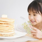 Buttermilk pancakes are easy to make.