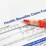 Health insurance claim form.