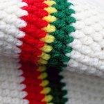 Knitted Reggae hat.