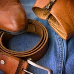 Leather boots and belts
