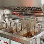 Deep fryer in professional kitchen