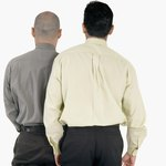 The yoke is the fabric across the back of a dress shirt.