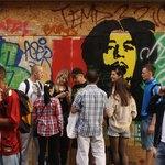 Bob Marley on mural.