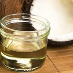 Coconut oil and water.