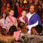 Children recreate bible story