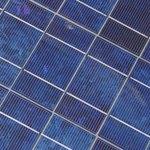 closeup of solar panels