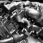 A diesel engine.